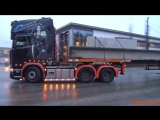4K_ Scania R560 V8 With Long Load