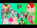 Домик для кукол Барби Монстер Хай Винкс Обзор Распаковка Doll House