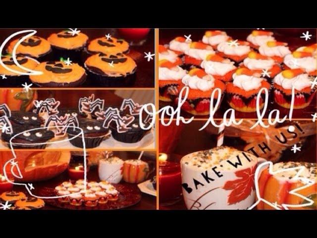 Bake with the Twins: Halloween Cupcakes, treats pumpkin spice milkshake!