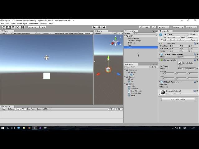 Unity3D Українською. Моя RPG. Вдосконалення класу Entity та тестування класу Model