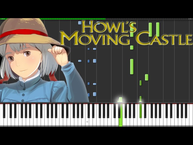 Howls Moving Castle Theme [Piano Tutorial] (Synthesia) Fontenele NXT