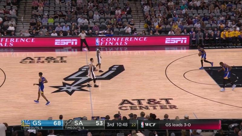 Сан Антонио Сперс - Голден Стэйт Уорриорс (плей-офф 2016-2017, финал Запада) 4 игра