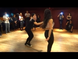 Stephanie Lucero &amp Vanessa Parrish - Bachata Class Demo