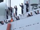 Учения 🇷🇺🇨🇳 Корабли ВМС Китая эсминец Хэфэй фрегат Юньчен и судно снабжения Ломаху прибыли в Балтийск для участия в совм
