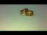 Обручальные кольца с символичным узором, золото 585, вес: 9,0гр. Выполнено на заказ из нашего золота.