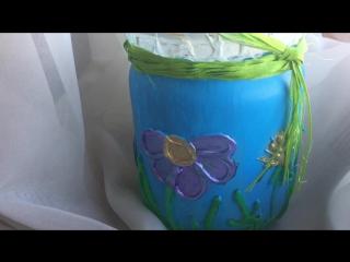 Творческий мастер-класс по декорированию ваз горячим пистолетом и акриловыми красками