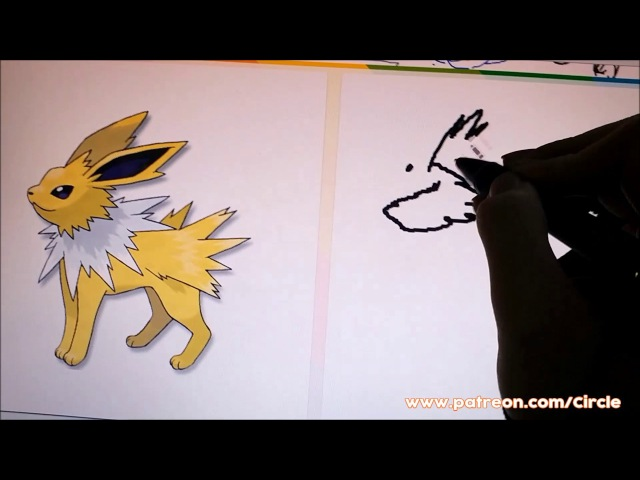 45 Second Pokemon Drawing - Jolteon