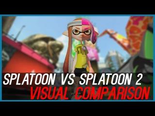 Splatoon 1 vs Splatoon 2 │Visual Comparison (Splatfest World Premiere)