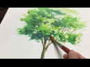 [ Eng sub ] Watercolor Tree Painting easy tutorial 1 水彩画の基本 〜樹木を描くコツ