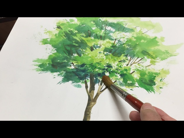[ Eng sub ] Watercolor Tree Painting easy tutorial 水彩画の基本 〜樹木を描くコツ