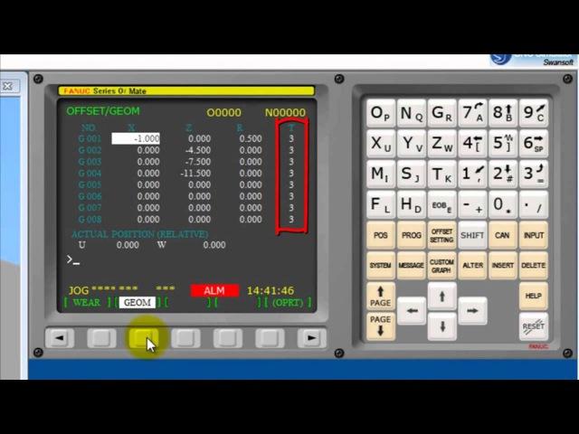 Программирование в Fanuc 0iT CNC SIMULATOR