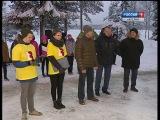 Освещение лыжной трассы построили в Костомукше.2016