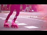 Megacruiser PINK &amp Pablo Soler - Powerslide Imperial Megacruiser 125 Pink Urban Inline Skates