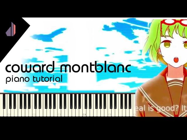 Coward Montblanc Yowamushi Montblanc (弱虫モンブラン) | Synthesia Piano Tutorial