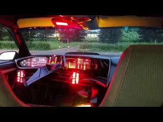 Remote controlled 1/1 knight rider KITT pontiac transam firebird Dash view parkinglot