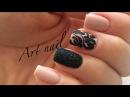 Маникюр Бархатный Песок Дизайн Ногтей Гель лаком и блестками Nail Art Designs