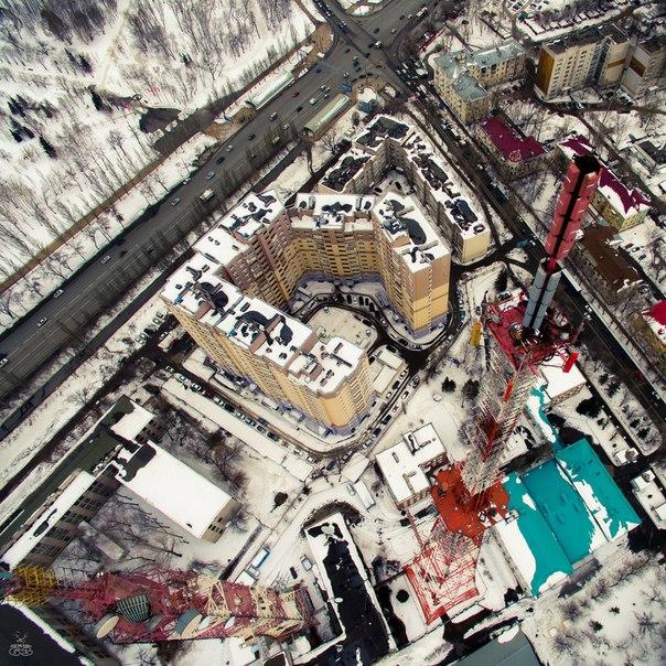 Башни телецентра Автор фото: /aerial63