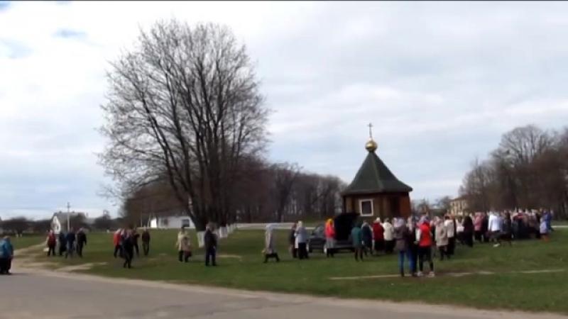 Освящение СвятаТроицкой каплицы в Вербное воскресение