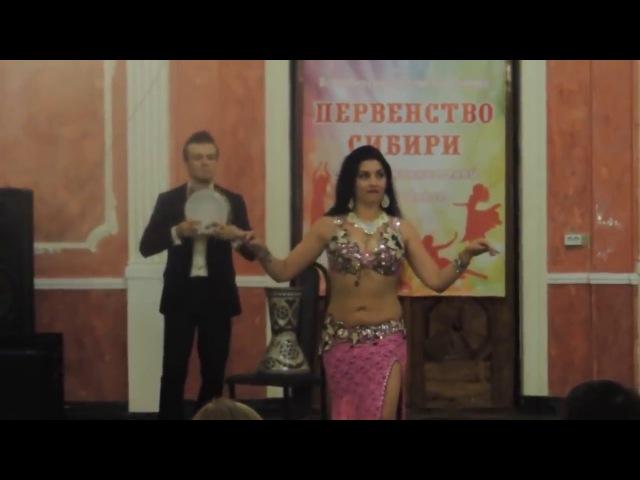 Anastasiya Gara and Evgeniy Strelnikov Tabla improvization [vk.com/bellydancetv_tanec_jivota]