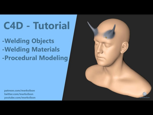 Welding Objects Materials - C4D Tutorial