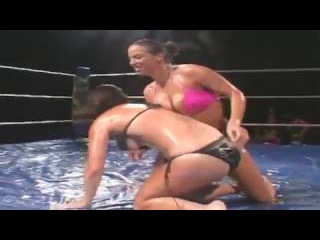 Wet Wrestling Sexy Stripper PT2