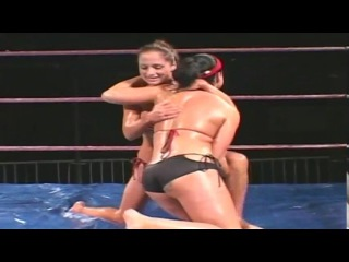 Wet Wrestling  Sexy Stripper Lockdown PT1
