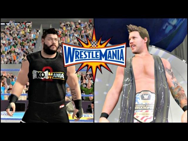 WWE 2K17 Wrestlemania 33 Sim Kevin Owens vs Chris Jericho United States Championship