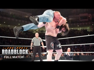 #My1 FULL MATCH  Brock Lesnar vs. The Wyatt Family - 2-on-1 Handicap Match: Roadblock 2016 (WWE Network)