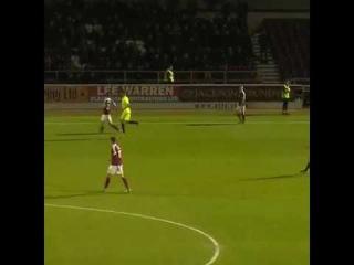 "Player ""Peterborough"" confused steward mate"
