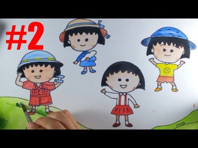 Draw Color Paint Chibi Maruko chan Part 2