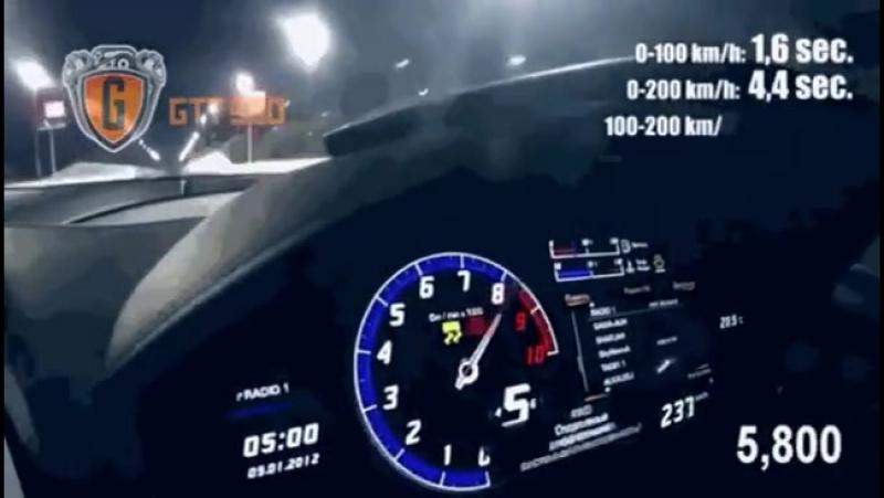 Безумный разгон Lamborghini Huracan GTT-900