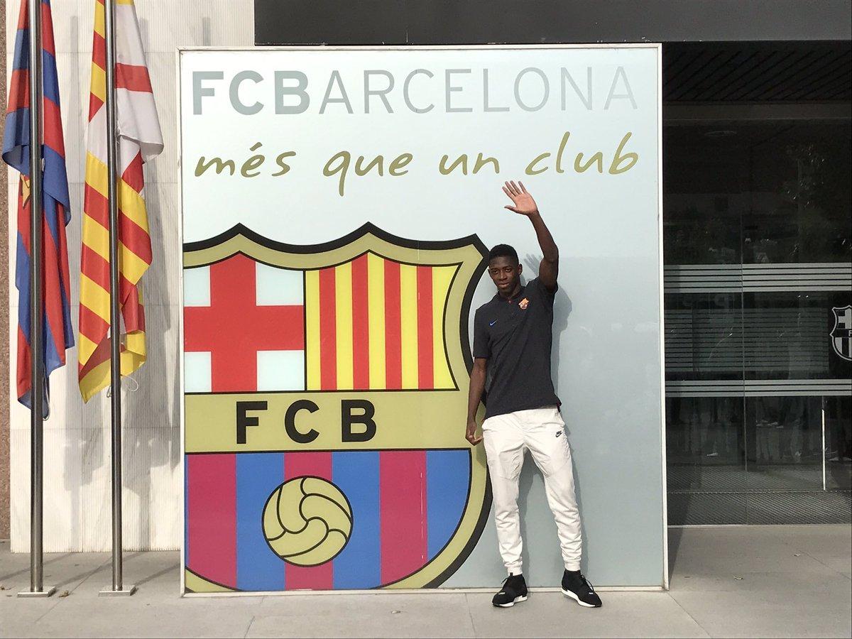"""Barcelona""ga xush kelibsan Dembele"