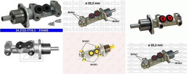 Главный тормозной цилиндр для ALFA ROMEO 145 (930)
