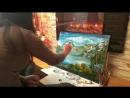 )* Я рисую *Я снимаю) Картина Спящий Саян*) Завершение