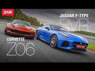 Chevrolet Corvette Z06 и Jaguar F-type SVR комментарий к тест-драйву