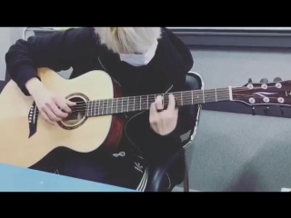 161228 ACE (MASC) @ YouTube 'Nowadays MASC is : ACE practicing guitar!'