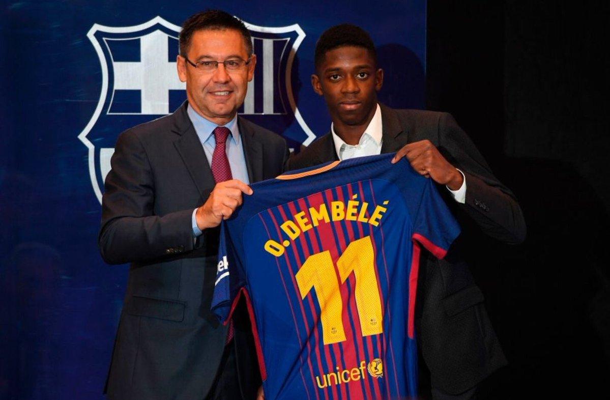 """""""Barcelona""""ning Dembelega qo`shimcha qancha bonus to`lashi ma`lum"""