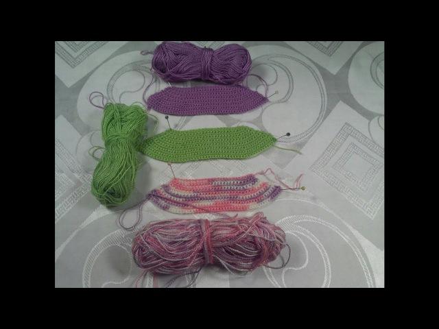 Вязание кокетки юбки для платья Барби Мастер класс Часть 1
