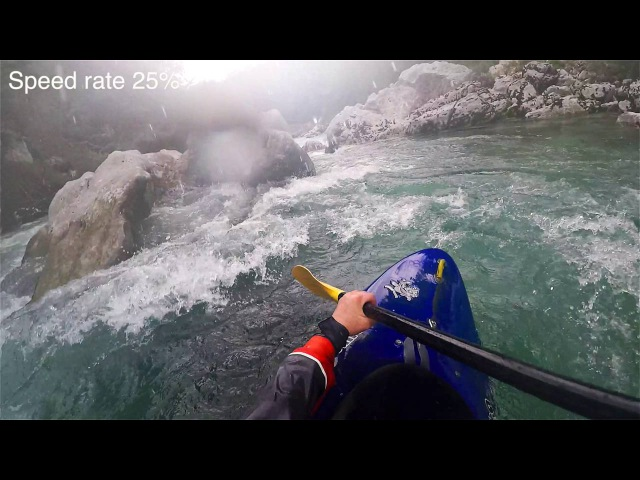 Sucked into a siphon on Soca River - June 2016