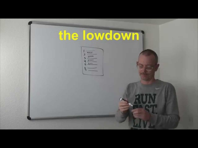0604 - the lowdown / подноготная - Daily Easy English Expression