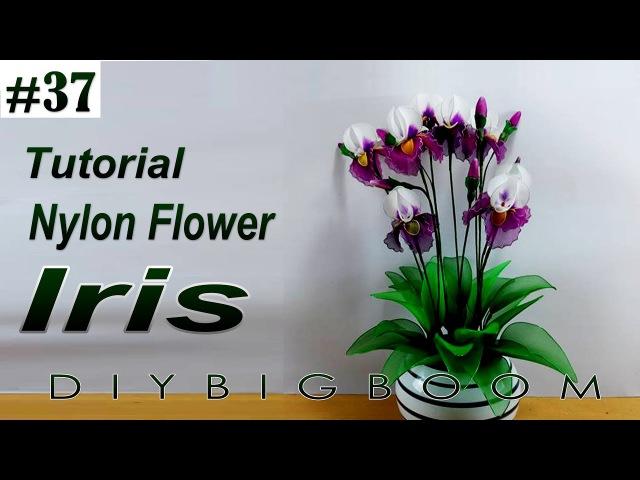 Nylon stocking flowers tutorial 37, How to make nylon stocking flower step by step