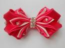 Бант из атласной ленты МК DIY Satin ribbon bow Curva de fita de cetim 54