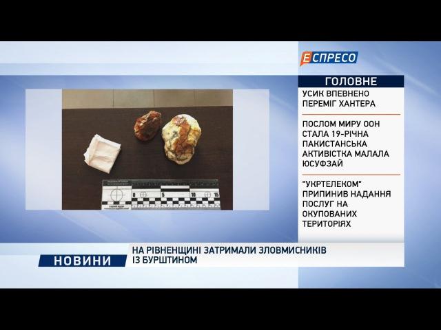 На Рівненщині затримали зловмисників із бурштином