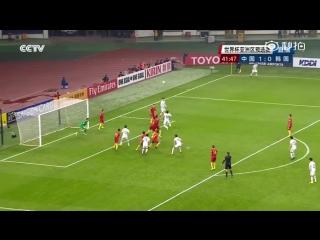 Сборная Китая по футболу впервые выиграла у команды Южной Кореи в истории отборочного турнира на чемпионат мира