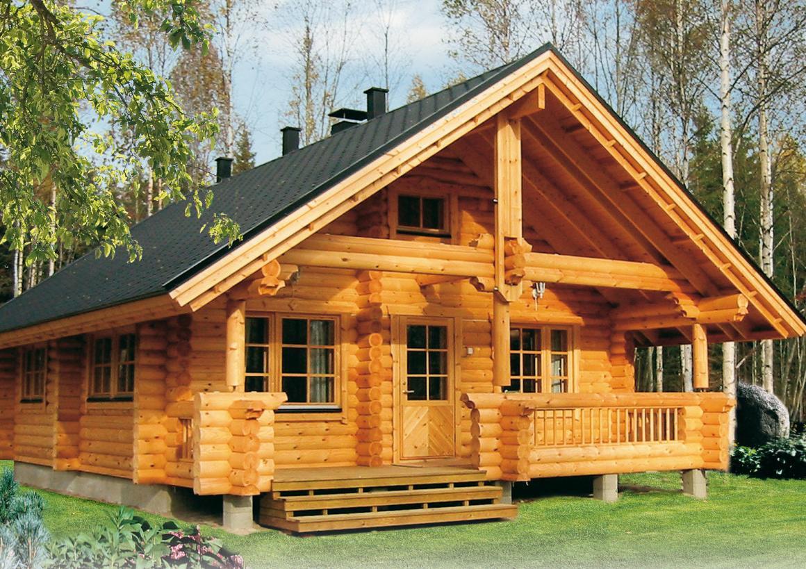 дома из оцилиндрованного бревна в Перми