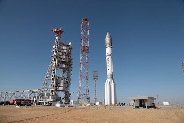 Ракета с «ЭкзоМарсом» установлена на стартовой площадке Байконура