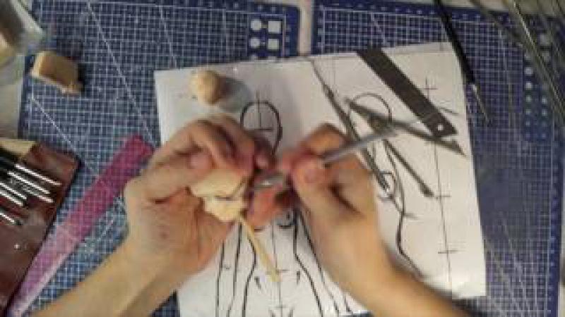 Шарнирная кукла своими руками с нуля часть 6 как лепить голову