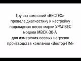 Калибровка и диагностика подкладных весов марки УРАЛВЕС модели МВСК-30-А