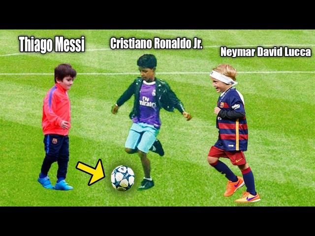 Filhos dos Jogadores!! Futuros Melhores do Mundo.. Ronaldo, Messi, Neymar..