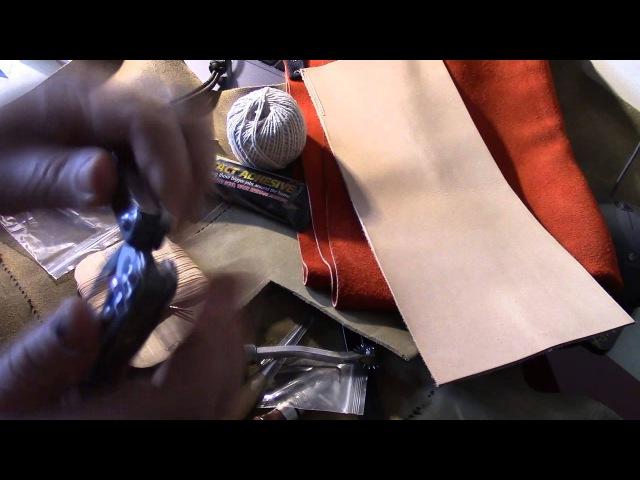 Warsztat skóroroba, skóra, narzędzia - Leatherwork workshop. Simon D. [PL]